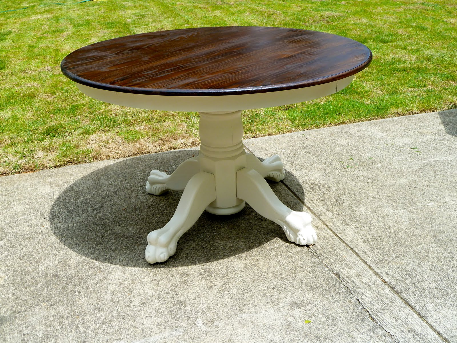 A Few Good Pieces Clawfoot Table - Claw foot oak dining table