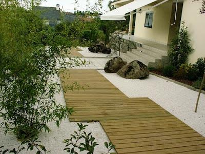 foto 6 jardin minimalista zen con piedras - frentes de casas