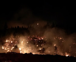 Night operations on Burnt Peak Fire