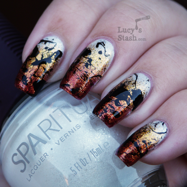 Lucy's Stash - Gradient nails with splatter nail art