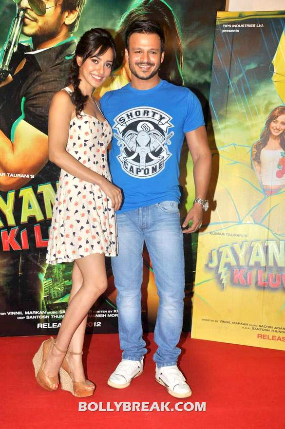 Neha Sharma, Vivek Oberoi - Neha sharma at Promo launch of 'Jayanta Bhai Ki Luv Story'