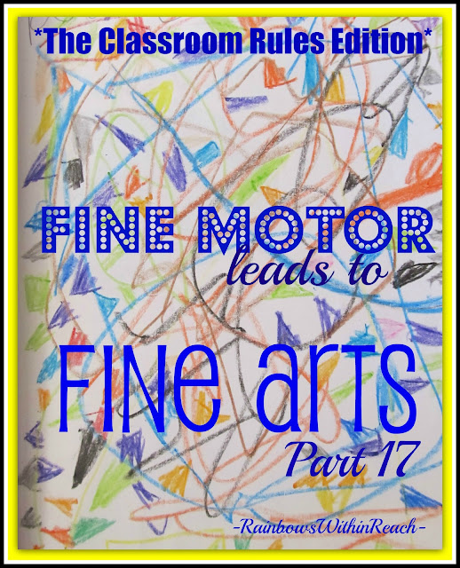 photo of: Fine Motor Leads to Fine Arts: The Classroom Rules Edition