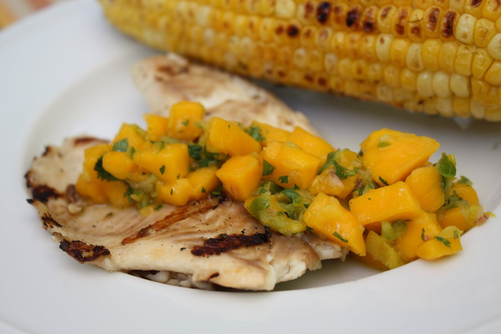 Nicole at Home: Grilled tilapia with mango salsa