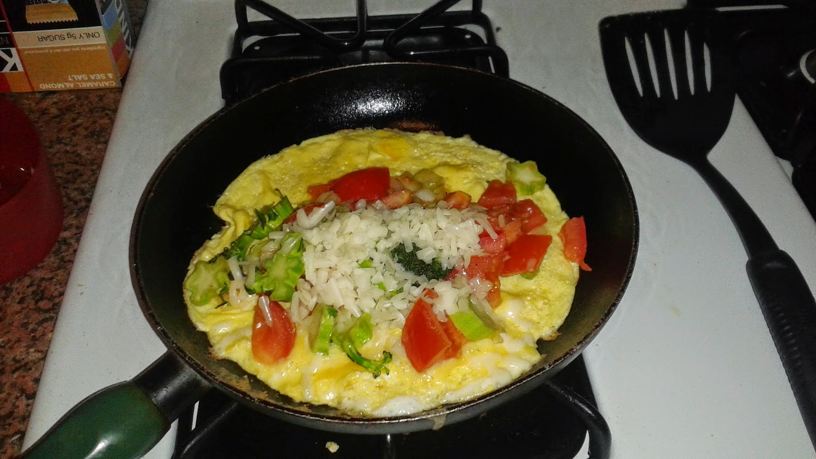 how to make a big omelette with one egg