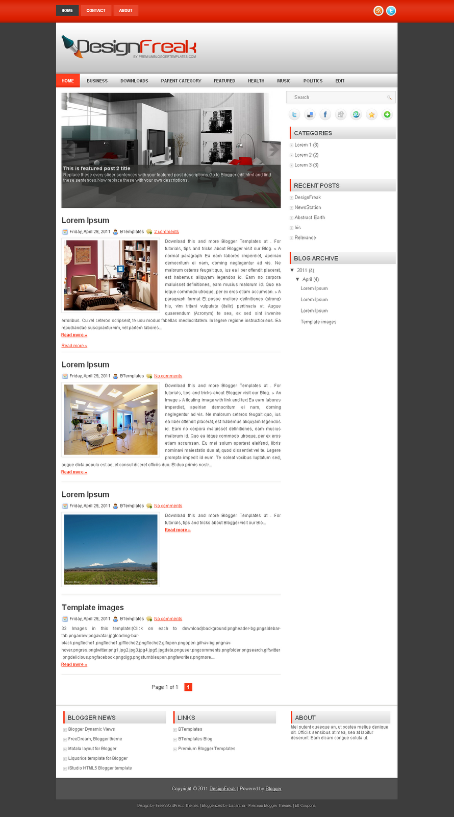 Blogger templates adapted from wordpress free templates for Free blog templates wordpress