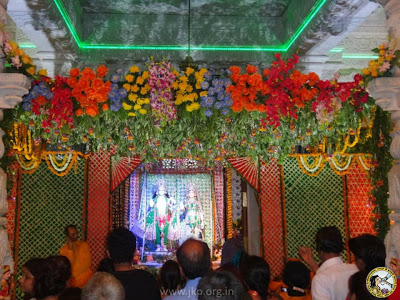 Devotees of Kripaluji Maharaj celebrated Hariyali Teej at Prem Mandir temple, Vrindavan