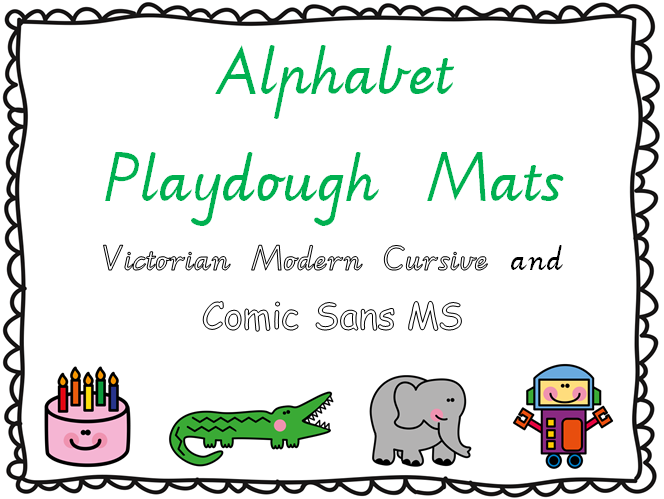 http://www.teacherspayteachers.com/Product/Alphabet-Playdough-Mats-Victorian-Modern-Cursive-1114916