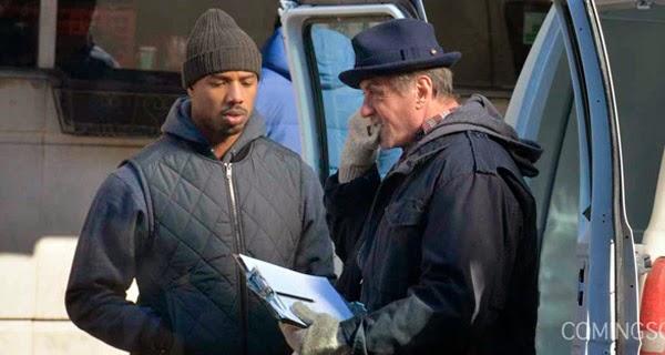 """Jordan y Stallone en el set de rodaje de """"Creed"""""""