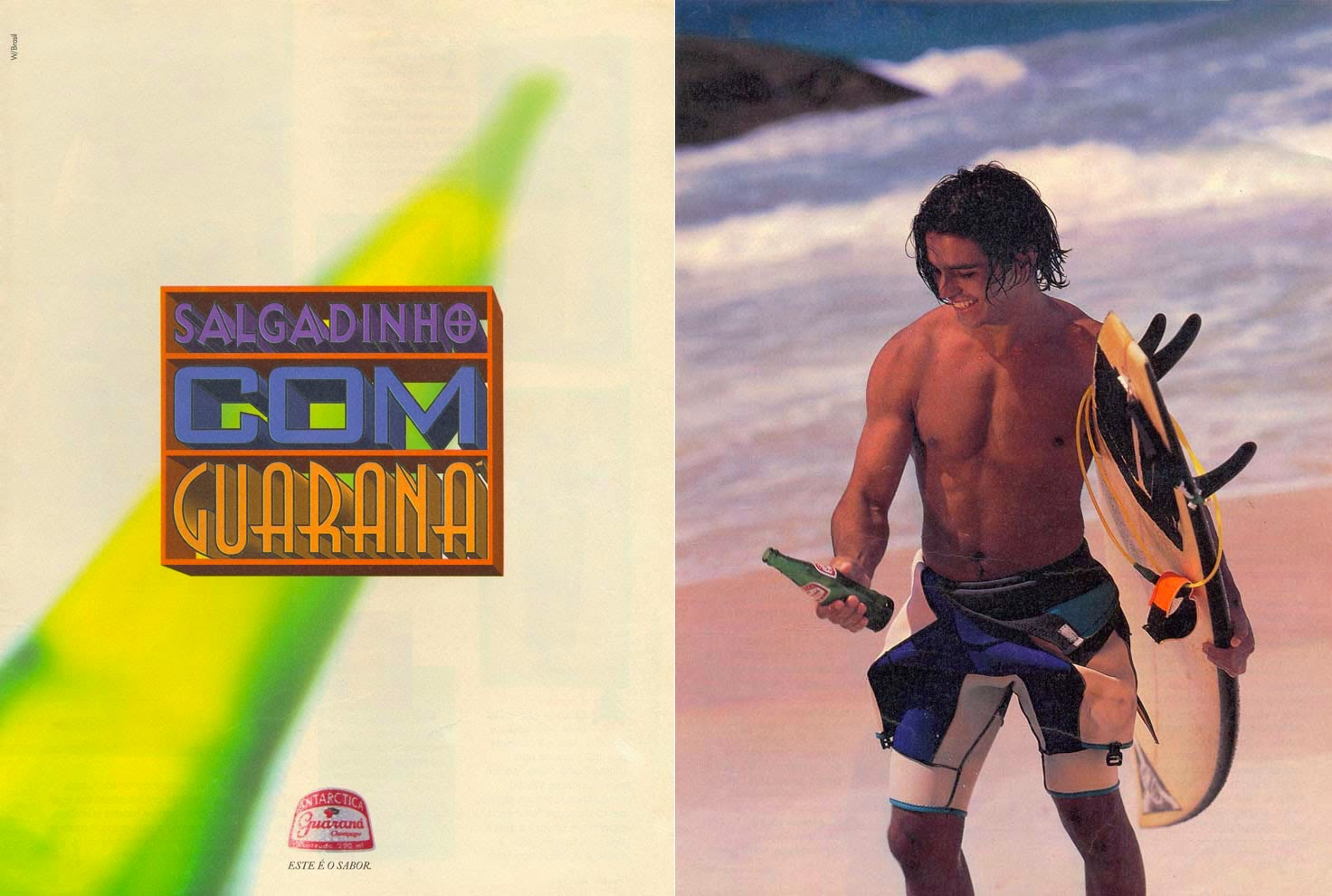 Propaganda do Guaraná Antártica: rapaz salgadinho.