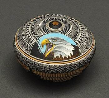Miniature Pottery Seed Pot by Wallace Nez (Navajo)
