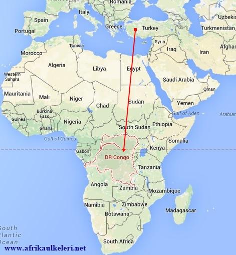 Demokratik Kongo Cumhuriyeti'nin Haritadaki Yeri