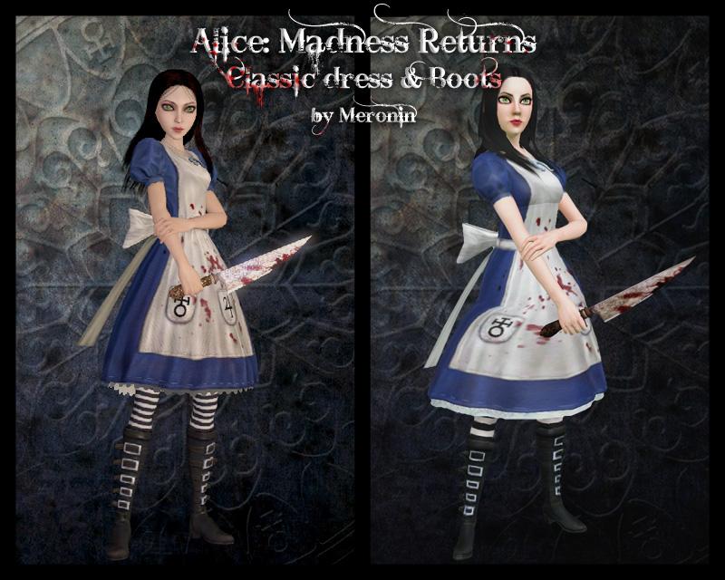Alice Madness Returns Misstitched Dress
