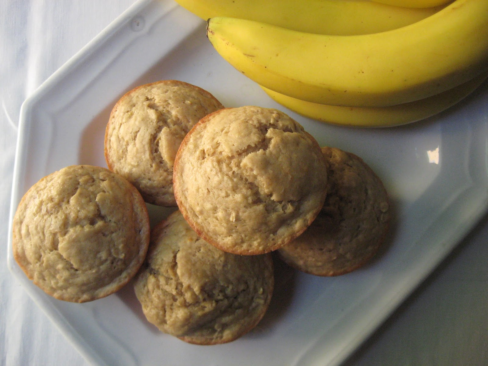 she's in the kitchen: big banana muffins on a hot day