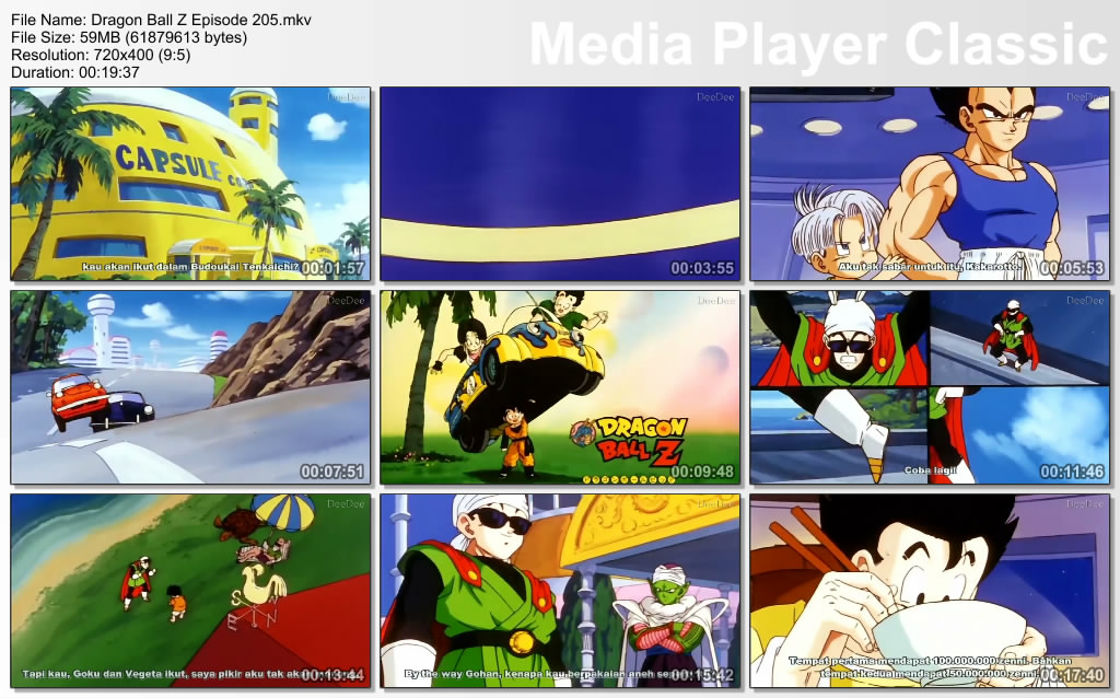 Download Film / Anime Dragon Ball Z Majin Buu Saga Episode 205 Bahasa