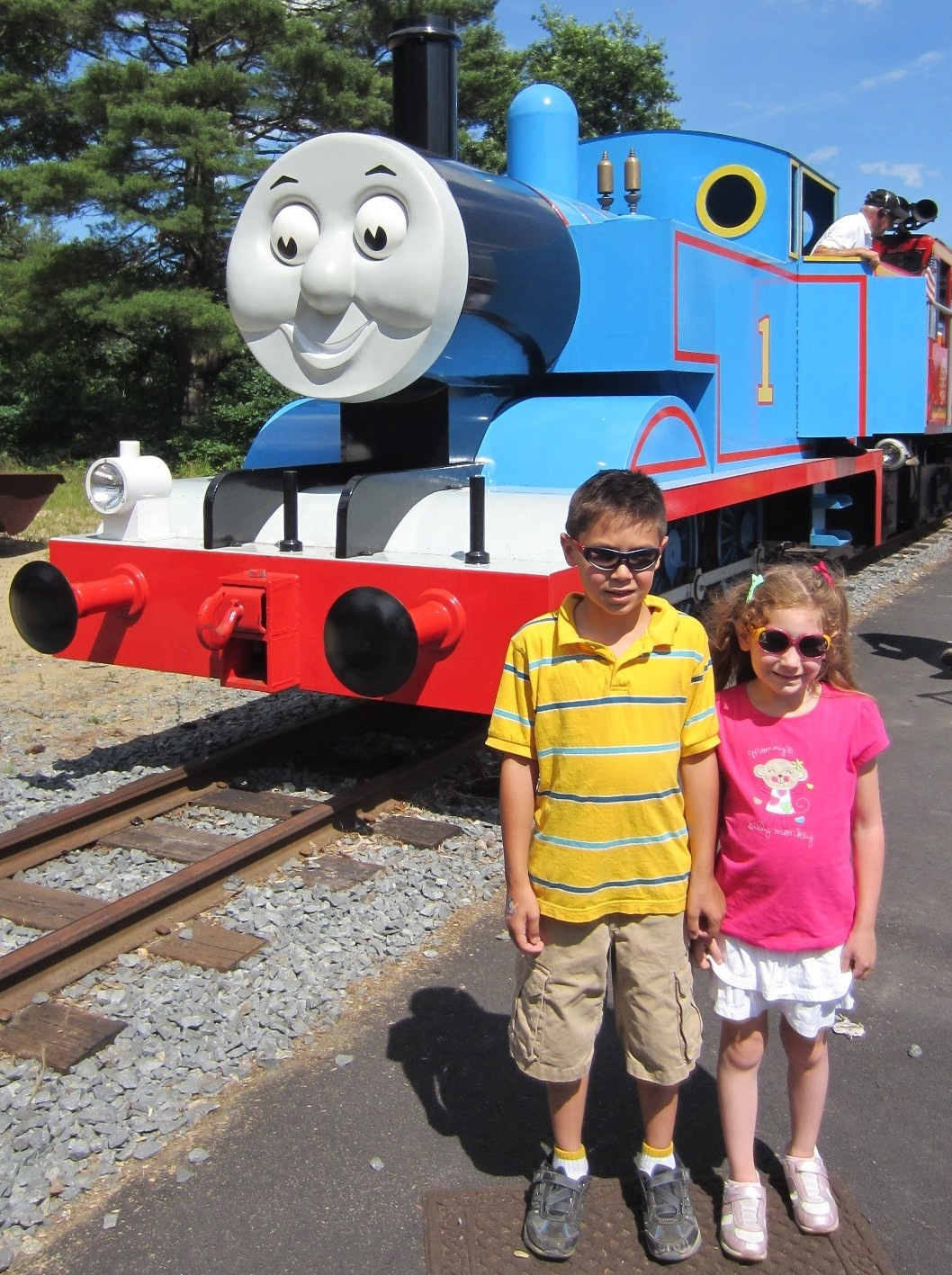 Evan and laurens cool blog 10312 day out with thomas mystery on of course you get to meet sir topham hatt when you are there m4hsunfo