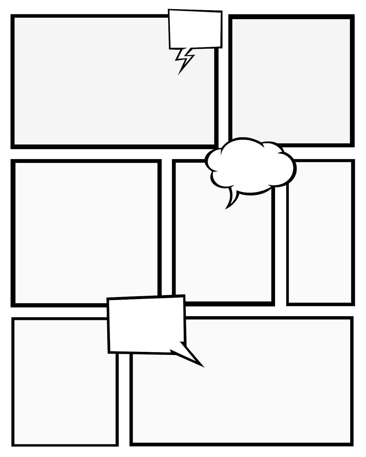 Comic Strip Template Printable