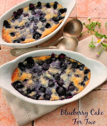 Blueberry Cake for Two (Can be doubled or tripled)