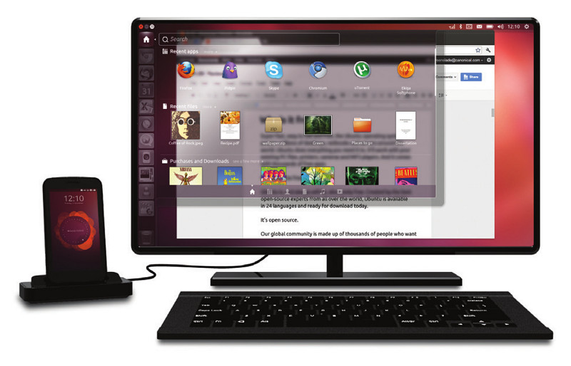 Ubuntu Phone Docked