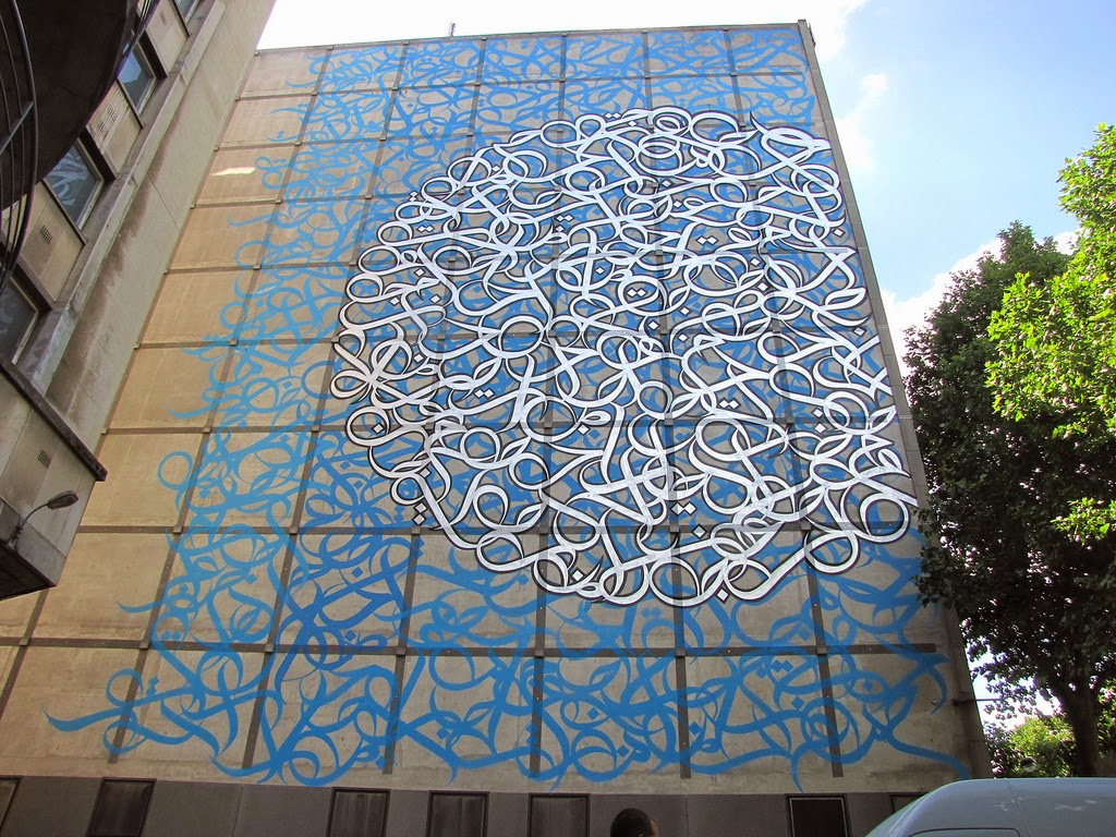eL Seed is back from the Middle-East where he was commissioned to work on this new mural in the fifth district of Paris, France.