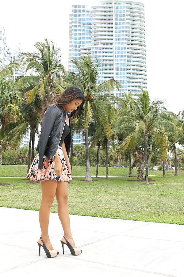 spring trends 2014, 2014 fashion trends, spring fashion, floral, floral skirt, monc boutique, south miami shopping, miami shopping, fashion blogger, miami fashion blogger, nyc fashion blogger, la fashion blogger, healthy, fitness, how to lose weight, how to lose cellulite, bliss, express jacket, express runway, sporty clothes, black tank top, bcbg, bcbg maxazria, bcbg shoes, phillip lim, phillip lim handbag, phillip lim bag, target, miami, south beach, kendall, blogger, outfit of the day