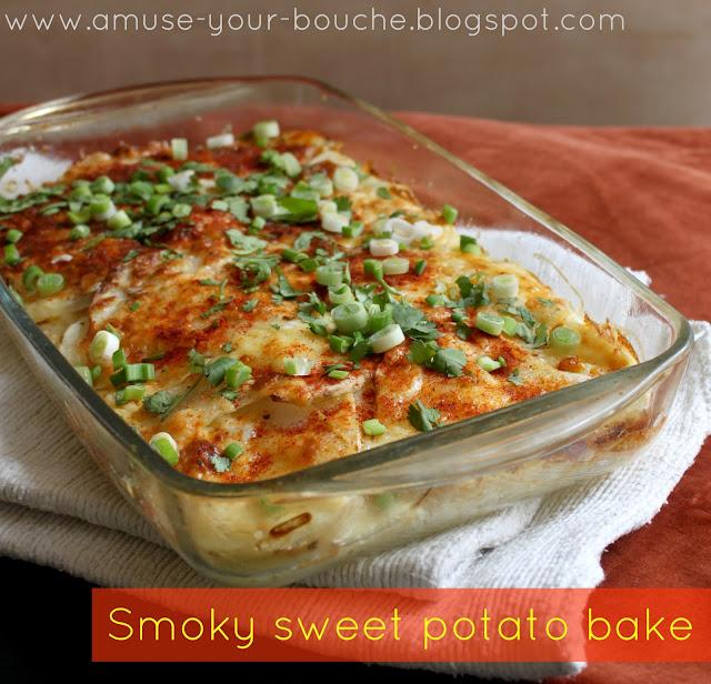 Smoky sweet potato bake recipe