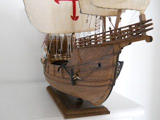 christopher columbus discovery ship static model