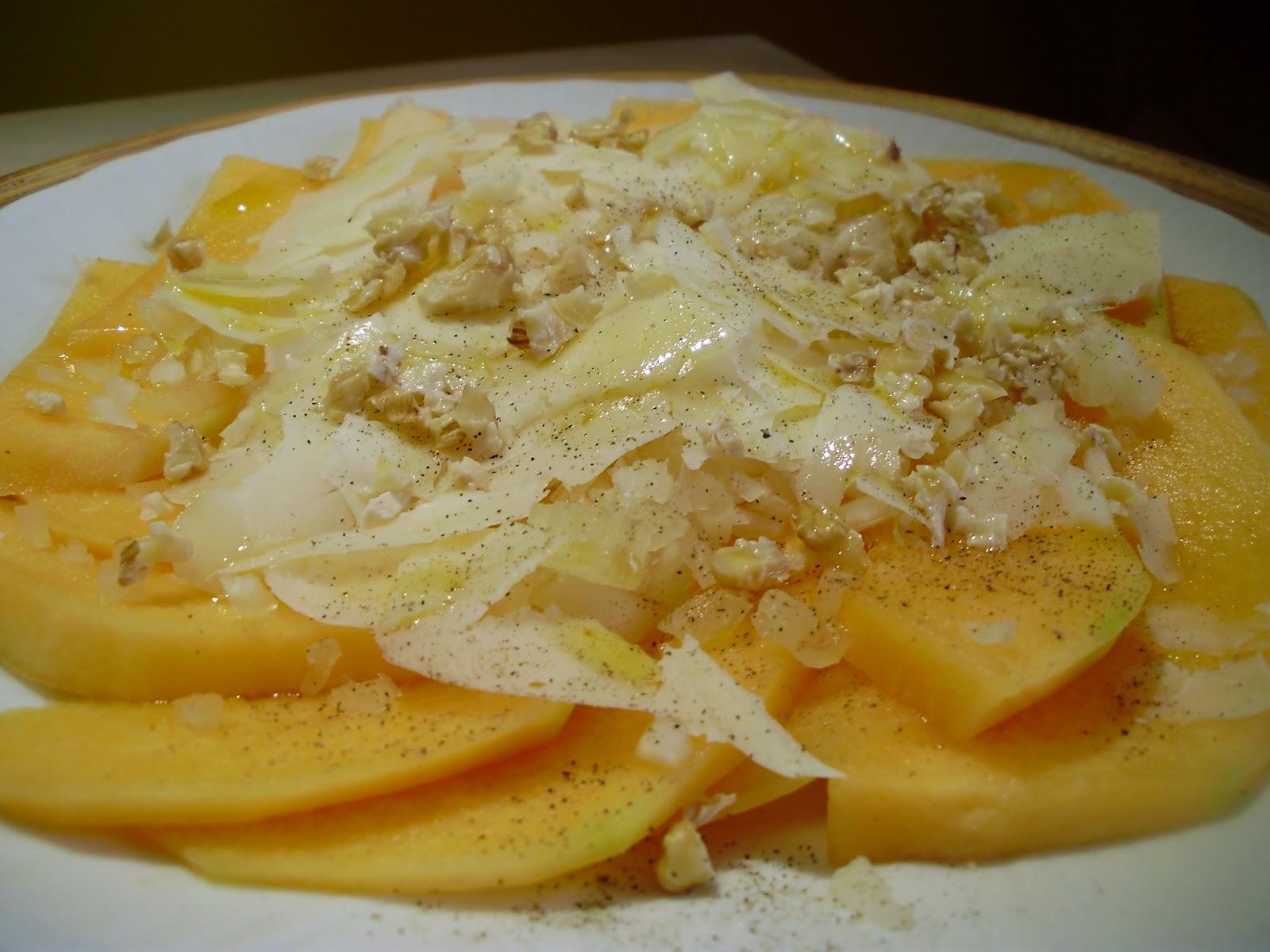 La cuoca in viola carpaccio di melone sedano noci e for Nuove ricette dolci