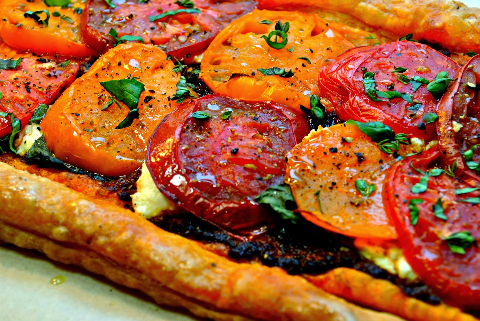 Double Tomato Tart with Ricotta and Basil