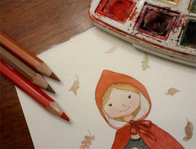 ilustración caperucita roja