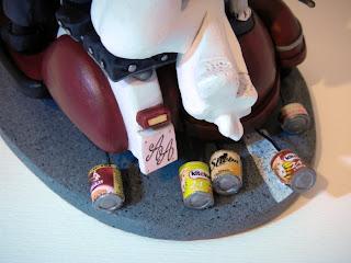 orme magiche cake topper cartoon scultura sposini sposi torta nuziale decorazione fatte a mano scolpite modellini