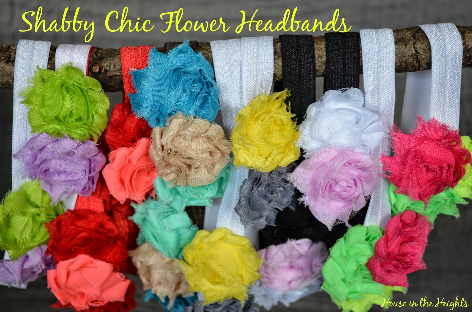 House In The Heights Shabby Chic Flower Headbands