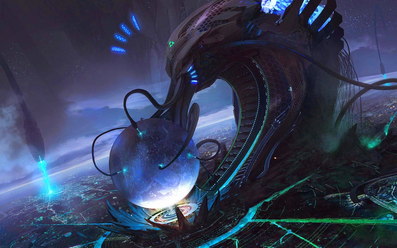 Papel de Parede Ficção Científica Tecnologia Alienígena para pc hd 3d grátis Sci Fi desktop hd wallpaper image free