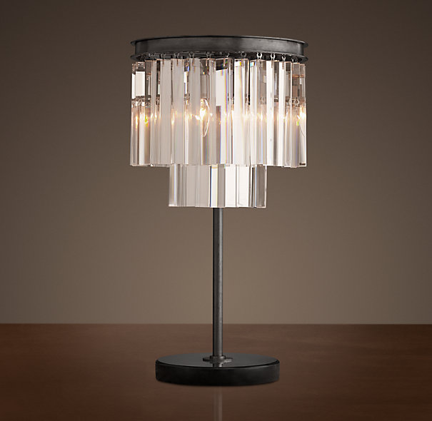 Restoration Hardware 1920s Odeon Glass Fringe Table Lamp