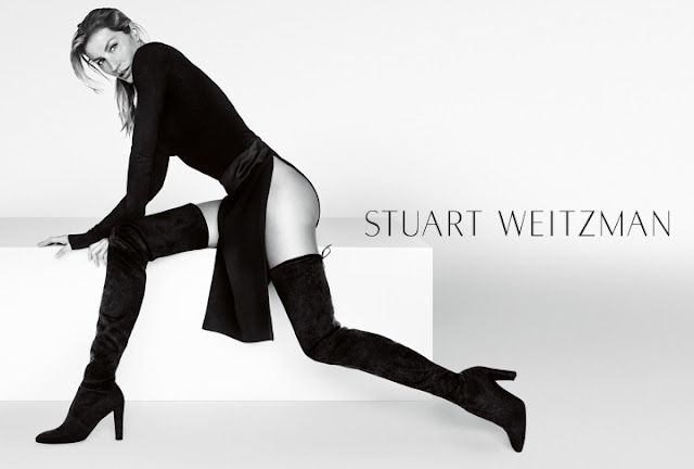 Gisele Bundchen flaunts derrière for the Stuart Weitzman Fall 2015 Campaign
