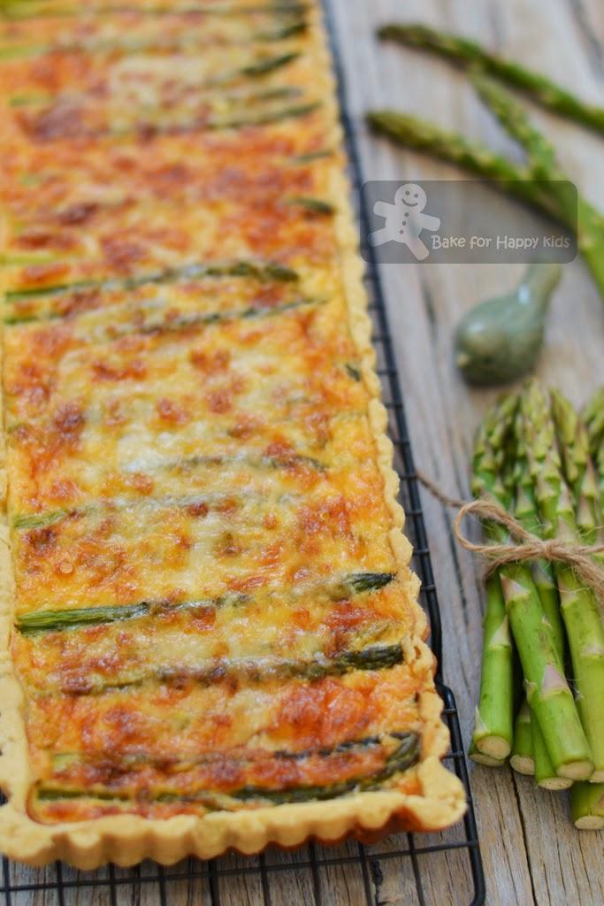 asparagus and spring onion gruyere cheese tart Gordon Ramsay