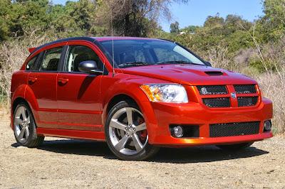 Red Dodge Caliber City Car
