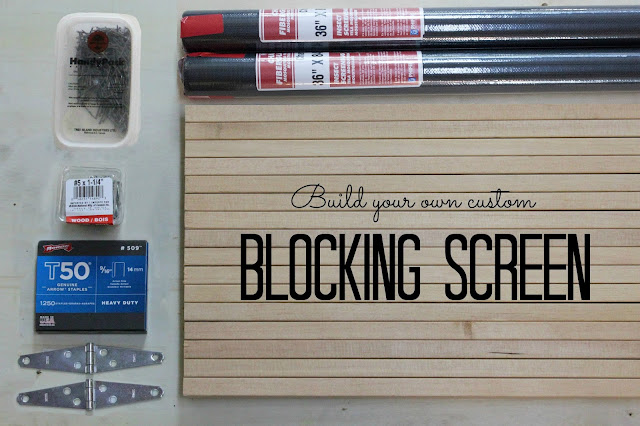 How to Make a Custom Blocking Screen by janerichmond.com