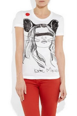 Kate Mouse cotton T-shirt by Simeon Farrar for Japan