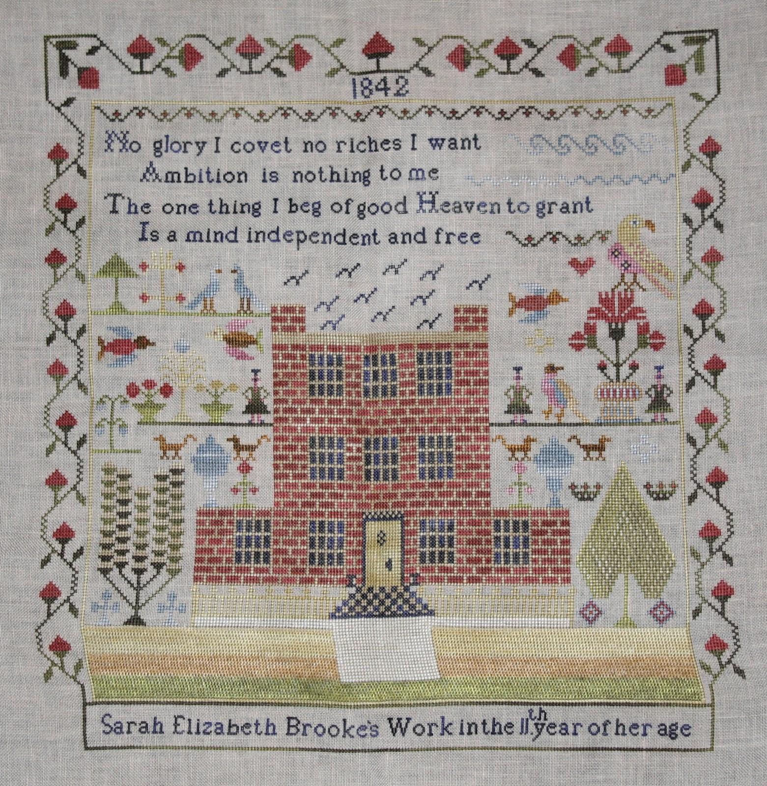 Tudor rose sampler guild lazy days of summer for Blackbird designs christmas garden