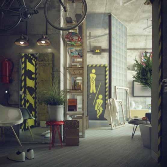 desain rumah casual, desain interior modern