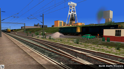 Fastline Simulation - North Staffs Minerals: A pair of Class 20s await there next duty in the south end head shunt at Hem Heath Colliery in North Staffs Minerals a route for RailWorks Train Simulator 2012.