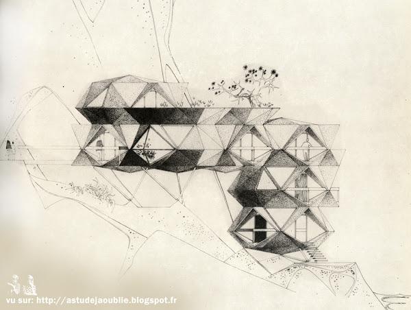 Cellules Plastique préfabriquées  Architecte: Paul Maymont  Projet: 1963 - 1964