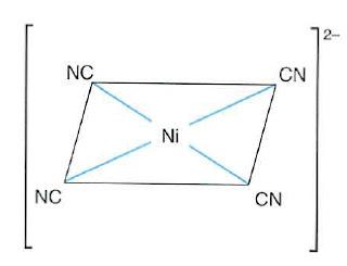 Estructura cuadrada del ion [Ni(CN)2]2-