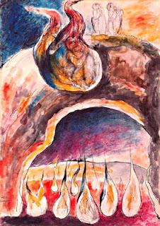 Odisseu i Diomedes envoltats per la mateixa flama (William Blake)