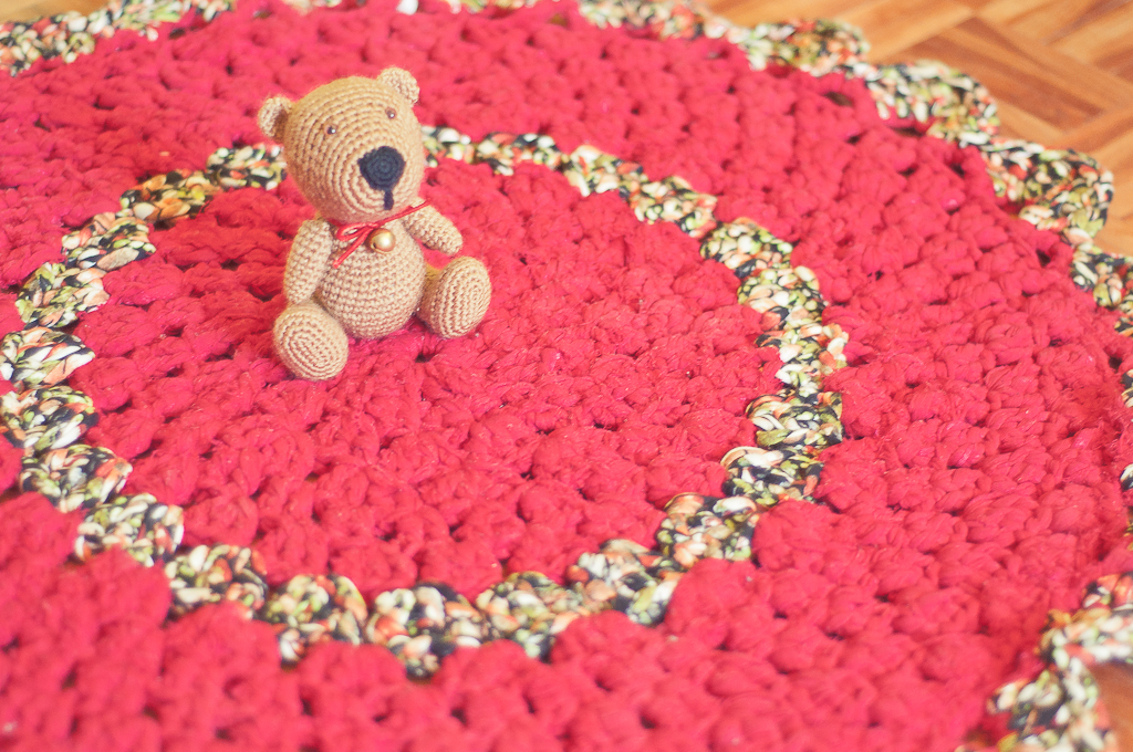 Tutorial alfombra de trapillo gallimelmas e imaginancias - Tutorial alfombra trapillo ...