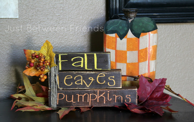Fall Words Mini Stacker