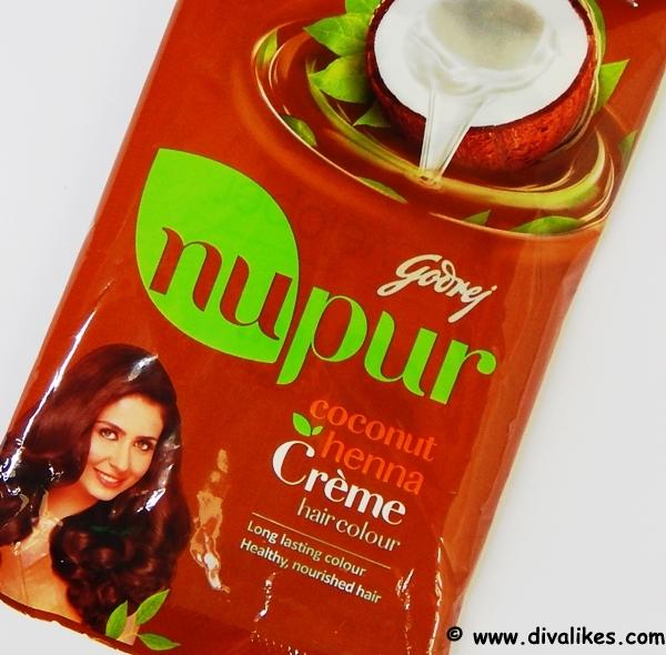 Godrej Nupur Coconut Henna Creme Hair Color Natural Brown Review