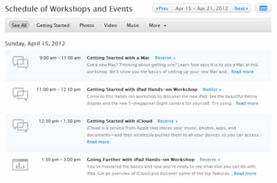 how to make genius bar appointment without apple id