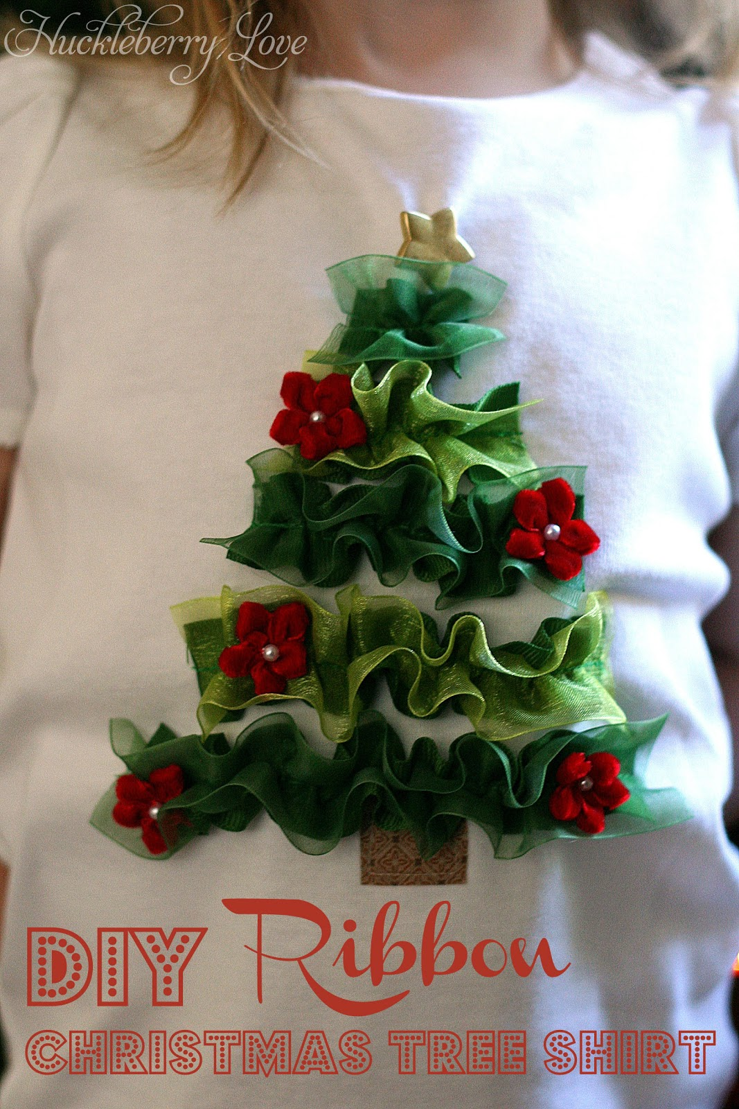 How to make ribbon christmas tree - I Love How This Turned Out And Am So Excited To Share It With You This Same Technique Can Be Used To Decorate A Pillow Or Even Turn A Boring White Apron