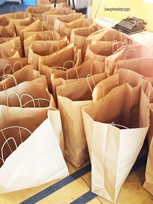 Die Goodiebags wurden von Modulor gefüllt